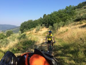 Biking in the Frescobaldi Vineyards